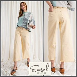 """Easel """"She's The One"""" Cropped Raw Hem Denim Jeans"""